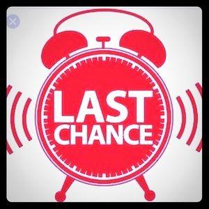 Last Chance Sale Items- get them now